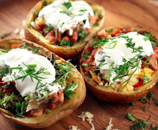 kartupelis ar pildītām pupiņām
