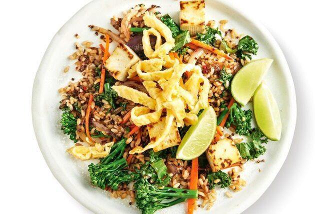 rīsi ar dārzeņiem