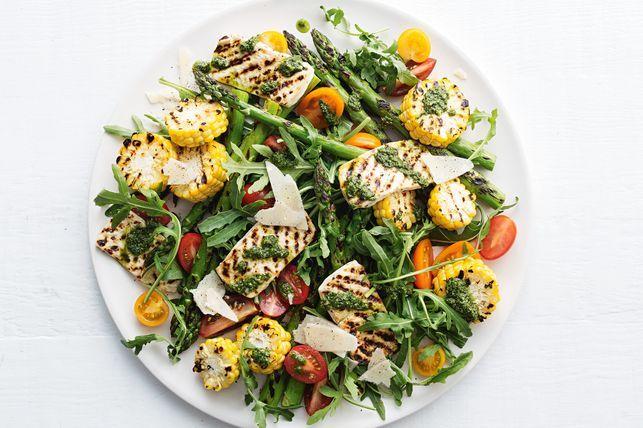 tofu un sparģeļu salāti