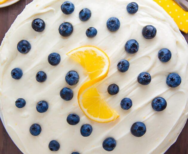 melleņu citrona kūka